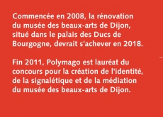 l'histoire du projet du musée <br>des beaux-arts de Dijon